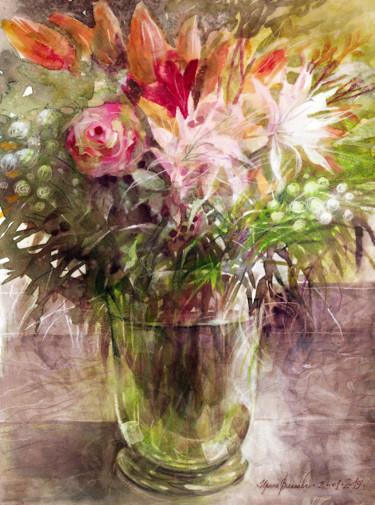 Painting, watercolor, artwork by Irene Vlassova