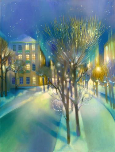 Painting, tempera, artwork by Irene Vlassova