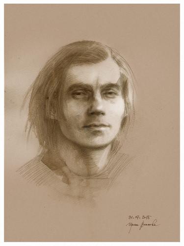 Drawing, pencil, artwork by Irene Vlassova